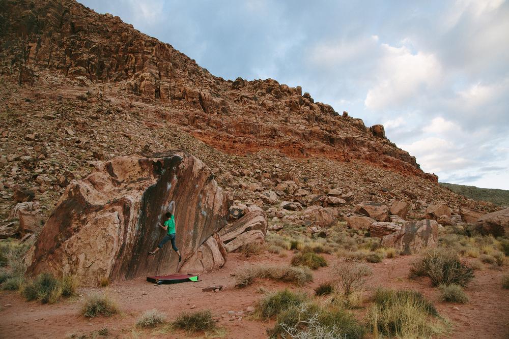 Jasper sending The Pearl in Red Rocks NV.
