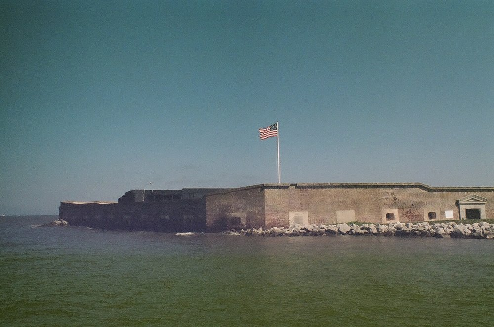 Fort Sumpter shot on film.