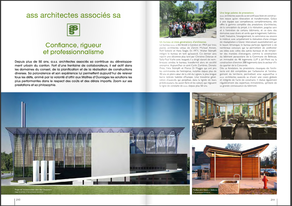 The opening image of the article is the project I am working on, the incinerator Cheneviers IV in the canton of Geneva.