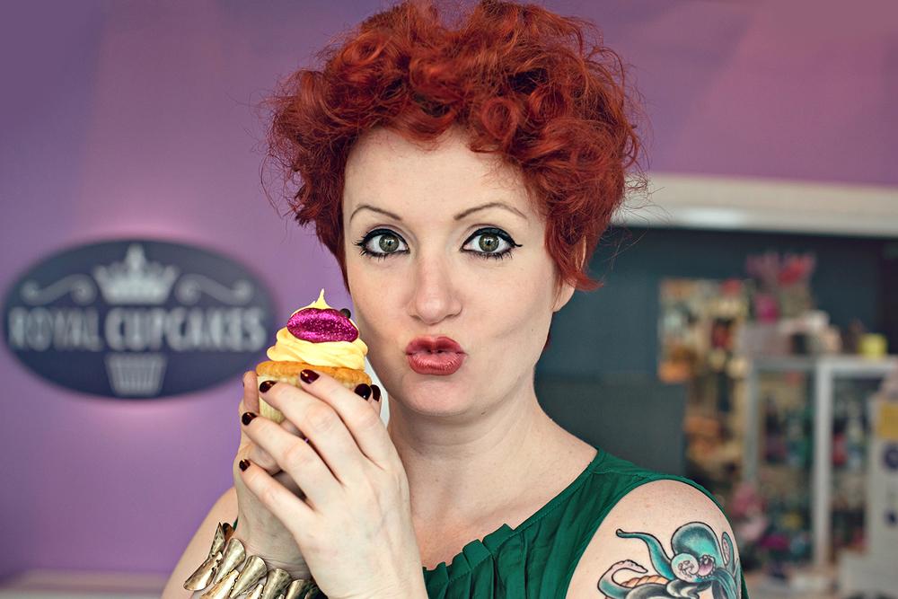 """""""  Nein, da fehlt kein Auge auf dem Cupcake! Das ist der 'Marilyn Monroe'!"""""""