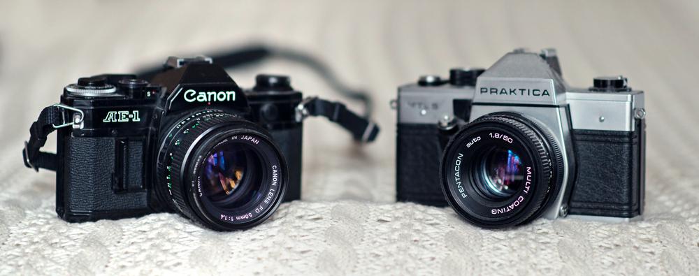 analoge-kamera-praktika-canon-ae1