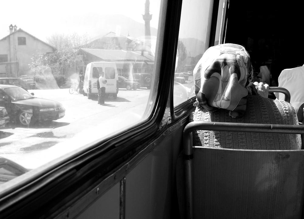 Im Bus auf dem Weg von Skopje nach Ohrid (Mazedonien)