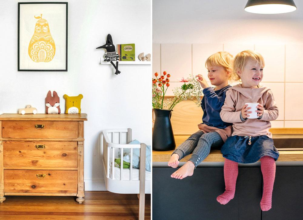 """Mini Empire Poster """"gelbe Birne"""" und schwarzer  Kuschelwolf """"Laterité"""" von kleineskarussell.de"""