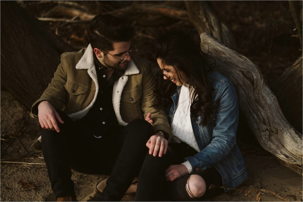 long island engagement photos - Short Beach Long Island - Hipster Engagement Photos - Winter Engagement Photos