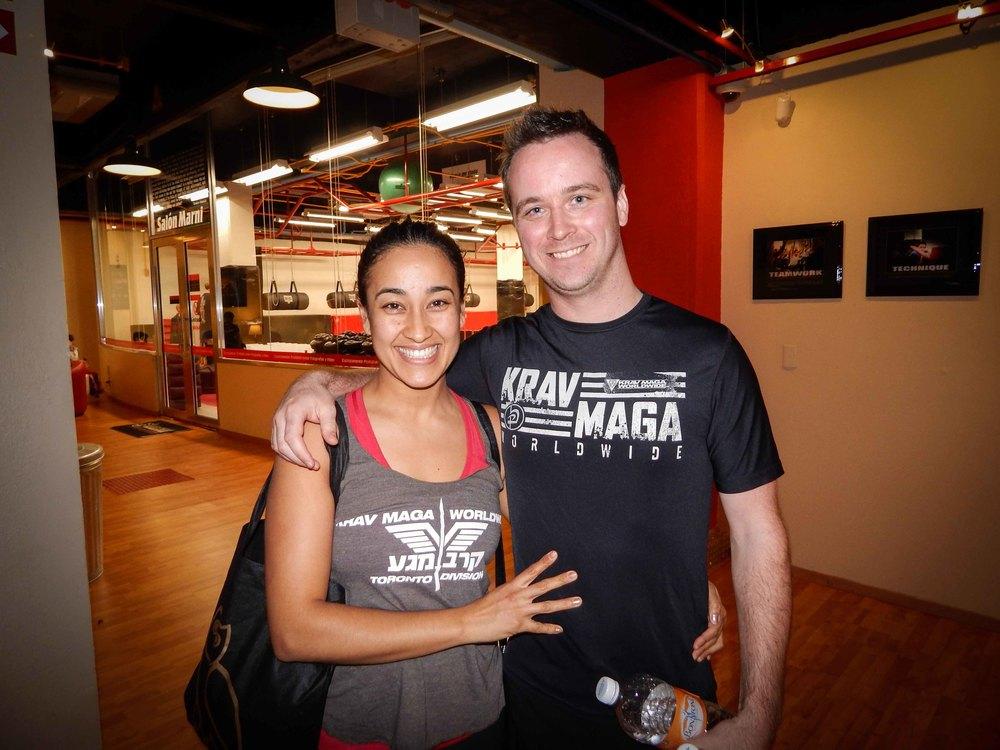 Jassy y Chris de Krav Maga Toronto visitando nuestro COE en Veracruz
