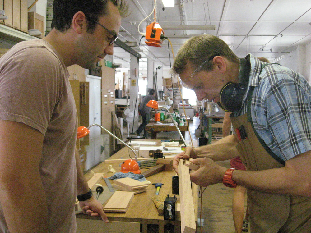 Zach and Stuart discuss marking out joints.