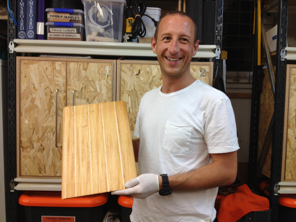 Phil cycled all the way from Manly to make this breadboard. Now he's making a surfboard!