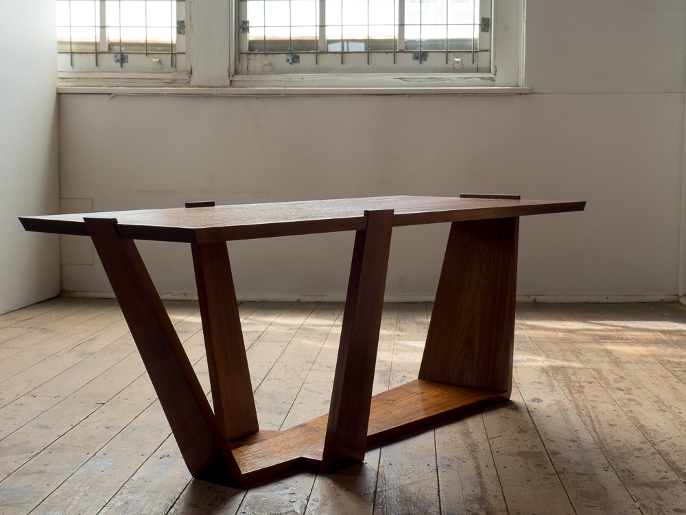 Many angles combine to complete Pouya's coffee table. Made using Tasmanian Blackwood.