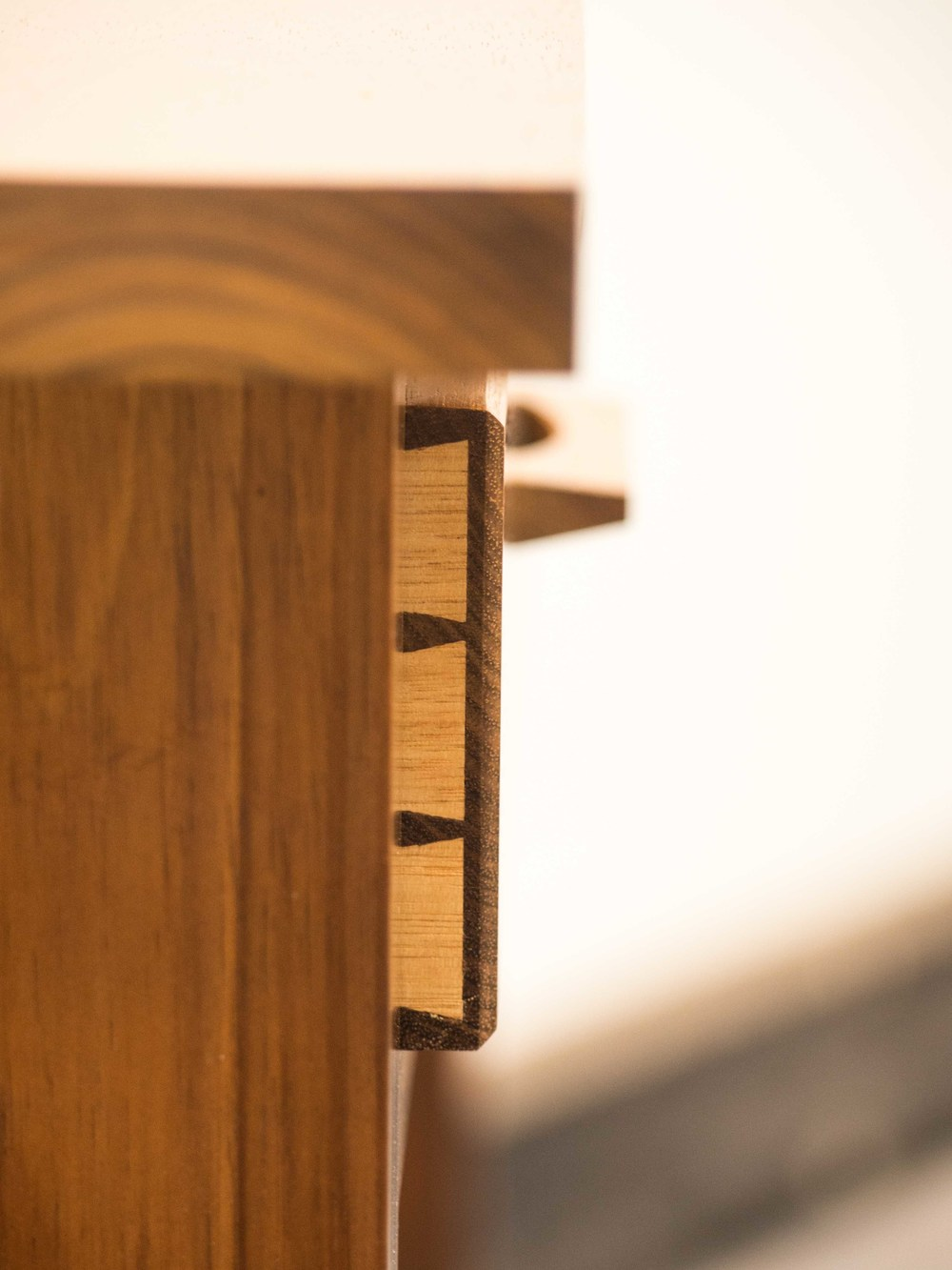 Natalie's hall table - dovetail drawer detail.