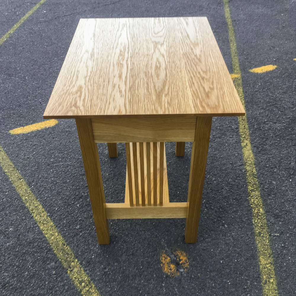 Phil's Arts & Craft's table in American White Oak.