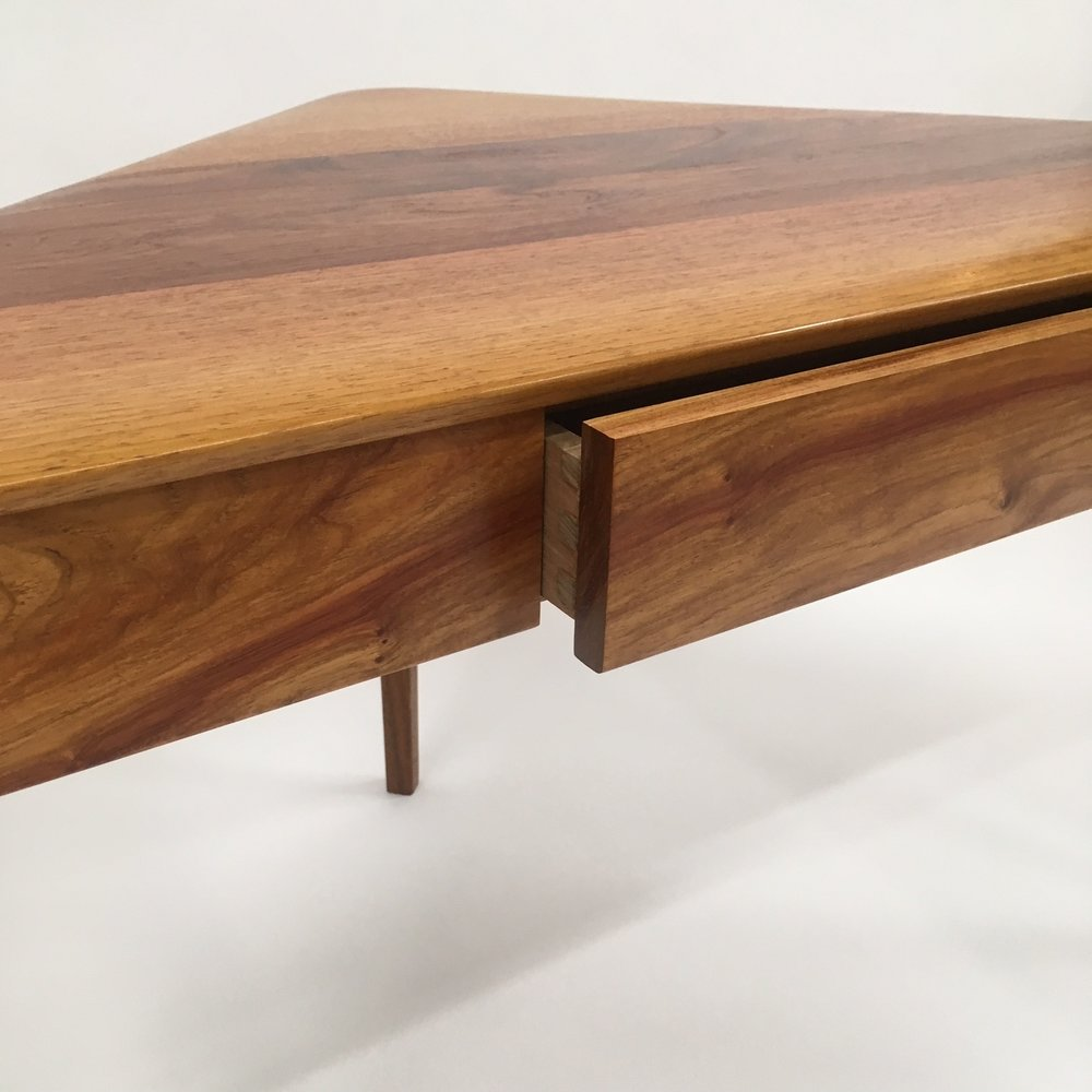 Darren's corner desk made with NG Rosewood.