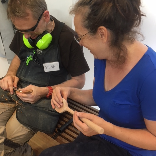 Spoon Carving in Sidney with Fiona Glover