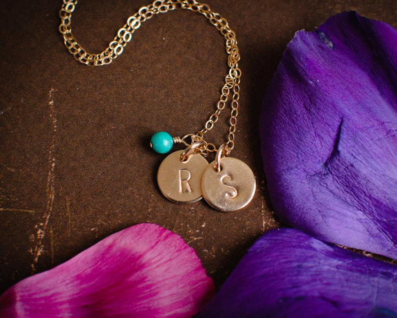 Efy's famous Initial Necklace with Birthstone(s)