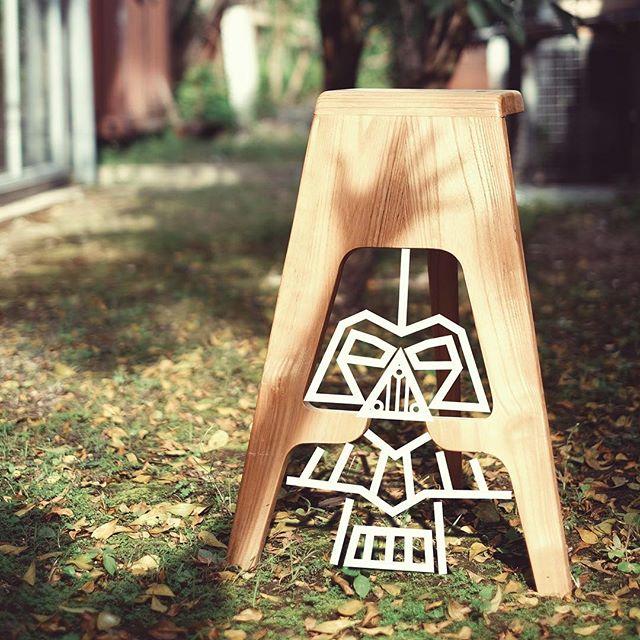 I see the dark side in this stool chair.. @rakattan  #starwars #darthvader #furniture #design