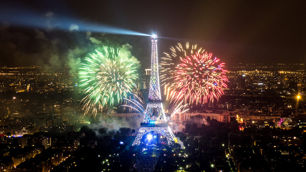 Fireworks at the 14th July 2013, Paris