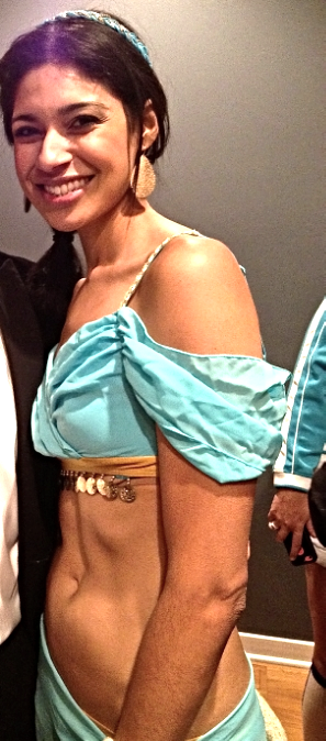 Me today (as Jasmine), feeling so much better about my body and my health.
