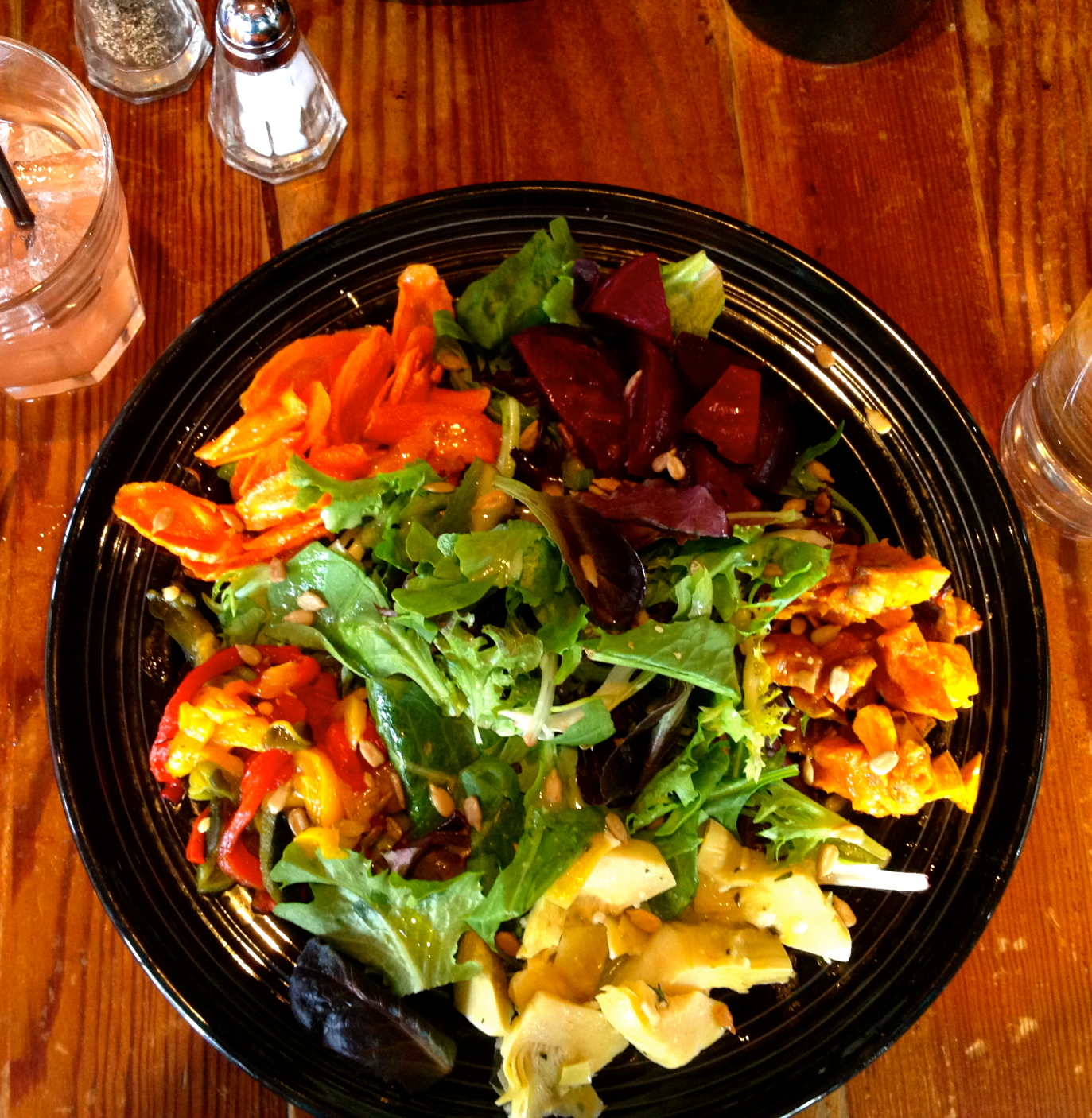 Roasted Veggie Salad, The Weary Traveler, Madison, WI
