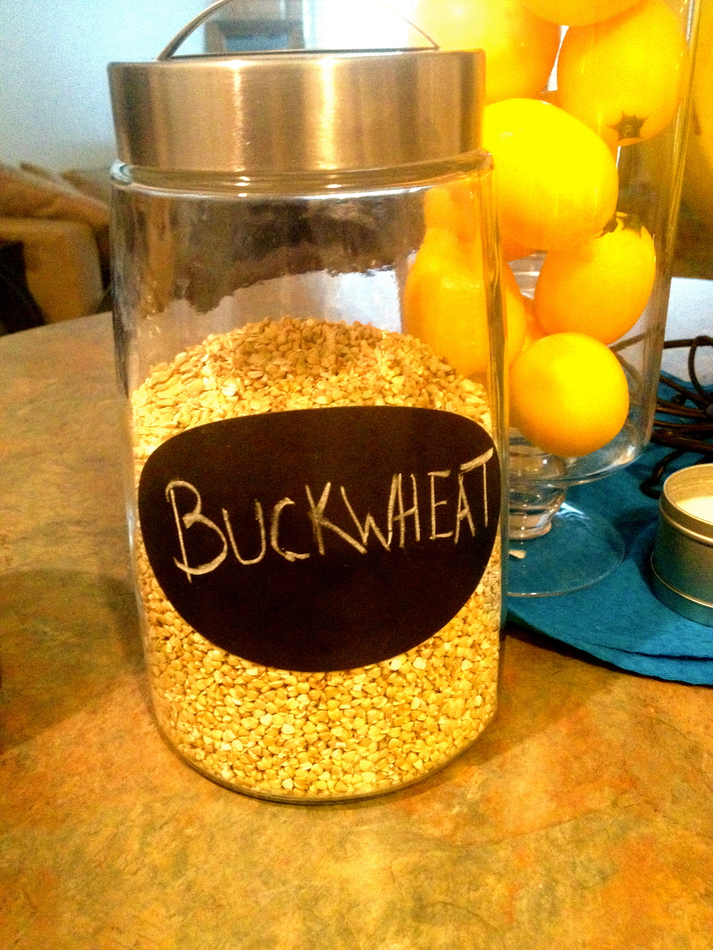 I decided my buckwheat was so important that it deserved its own jar.