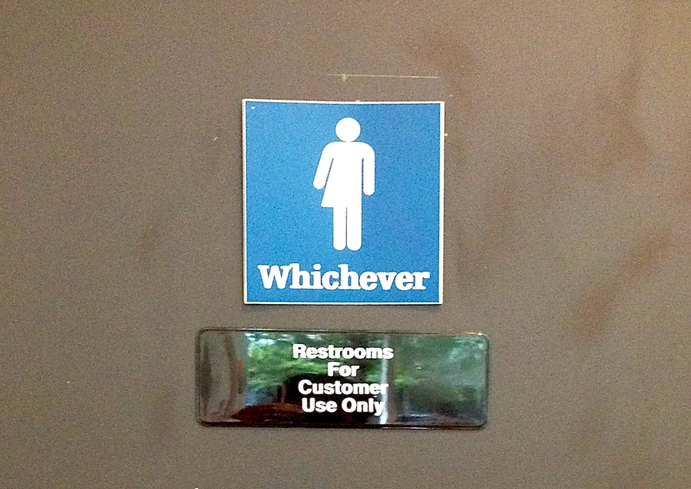 A bathroom with a sense of humor. Or gender confusion.