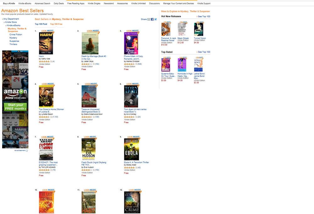 TJ Brearton and Taylor Adams in Kindle top 20 — JOFFE BOOKS