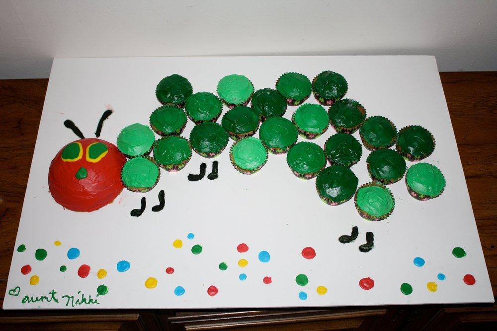 a very hungry caterpillar cake
