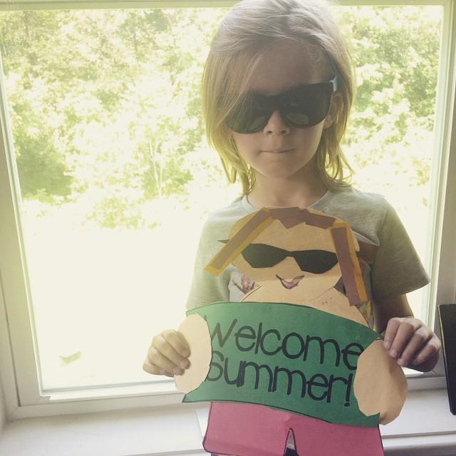 Last full day of school today! Hellooooo summer!! (#toocooltocare) 😎