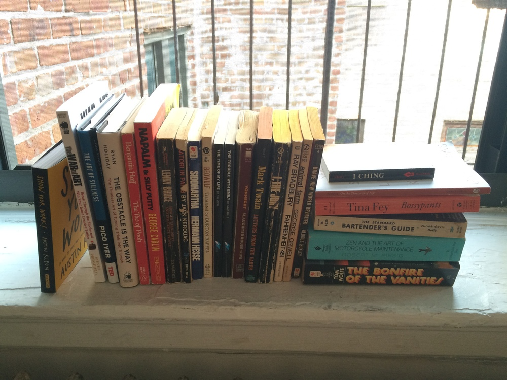 Just a taste of my tiny book collection