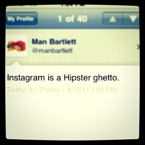 No really… ;) (Taken with  instagram )