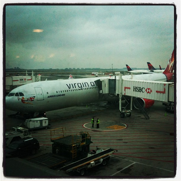 Ready to fly for #GreyMatter (Taken with Instagram at Virgin Atlantic JFK —-> LHR)