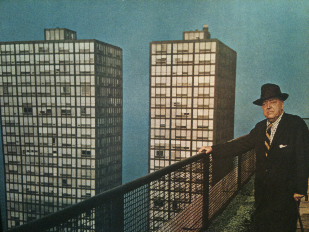 Mies Van Der Rohe. Spotted in the wild on current #collagehunting expedition.