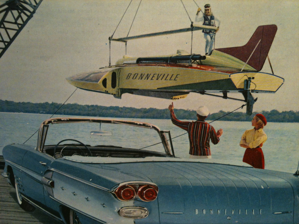 #collagehunting :: Bold New Bonneville by Pontiac. America's Number 1 Road Car. January 1958.