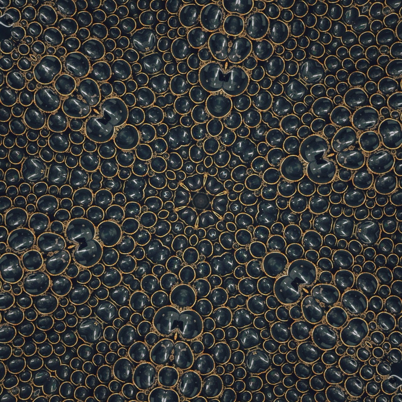 sacred geometry (coffee bubbles edition)