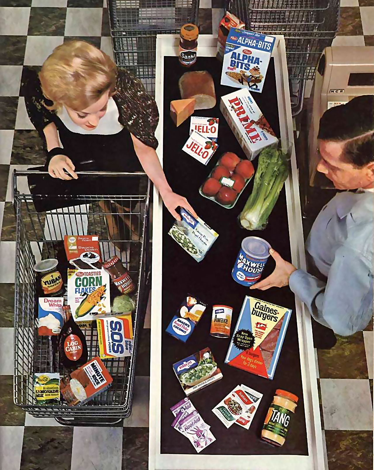 midcenturymodernfreak: 1964 Grocery Checkout - Via Such good packaging.