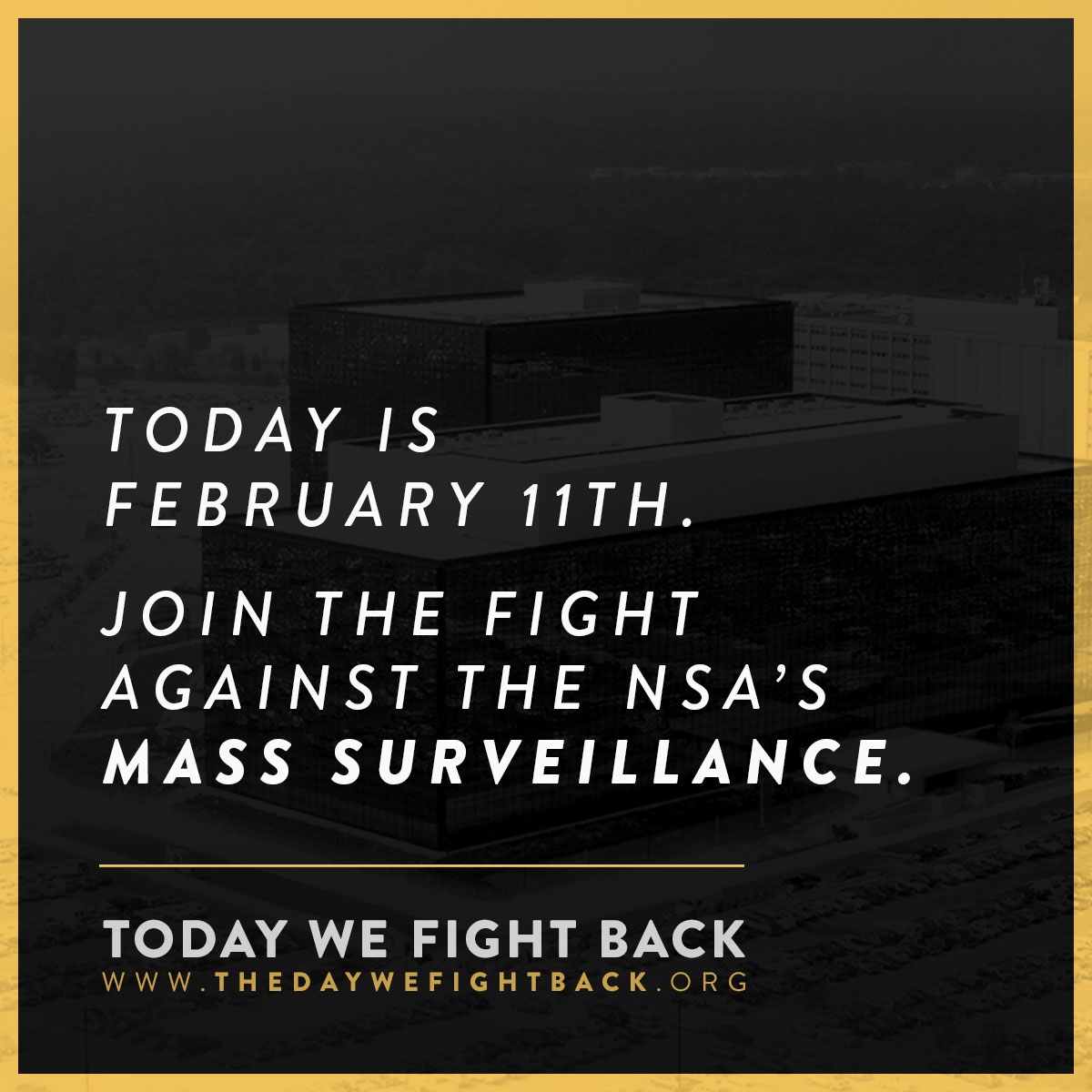 "demand-progress :       The NSA ""is gathering nearly     5 billion records a day     on the whereabouts of cellphones around the world.""    (  Washington Post  )    Join us in protesting the National Security Agency's wide-ranging invasion of privacy.     Take action →       It's not too late to get involved…"