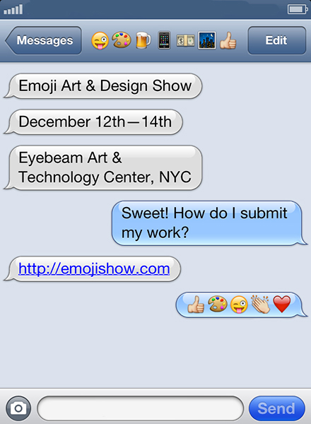artstech: The Emoji Art & Design Show,surveys the spread of emoji through popular culture with an art exhibition and Emoji Pop-Up Market. SUBMIT YOUR WORK: http://www.emojishow.com/ Do it