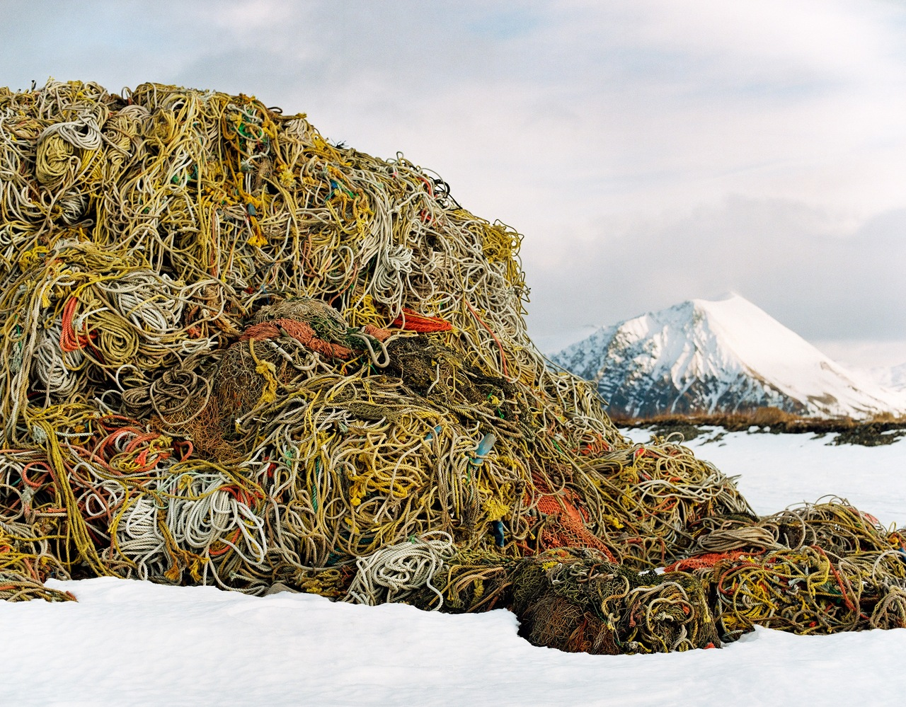paddle8 :     Corey Arnold,   Line Mountain (Dutch Harbor, Alaska) ,  2012   Fisherman turned photographer, Corey Arnold makes mountains out of fishing-line. Our auction benefitting  NURTUREart  ends tomorrow.     Lines lines lines