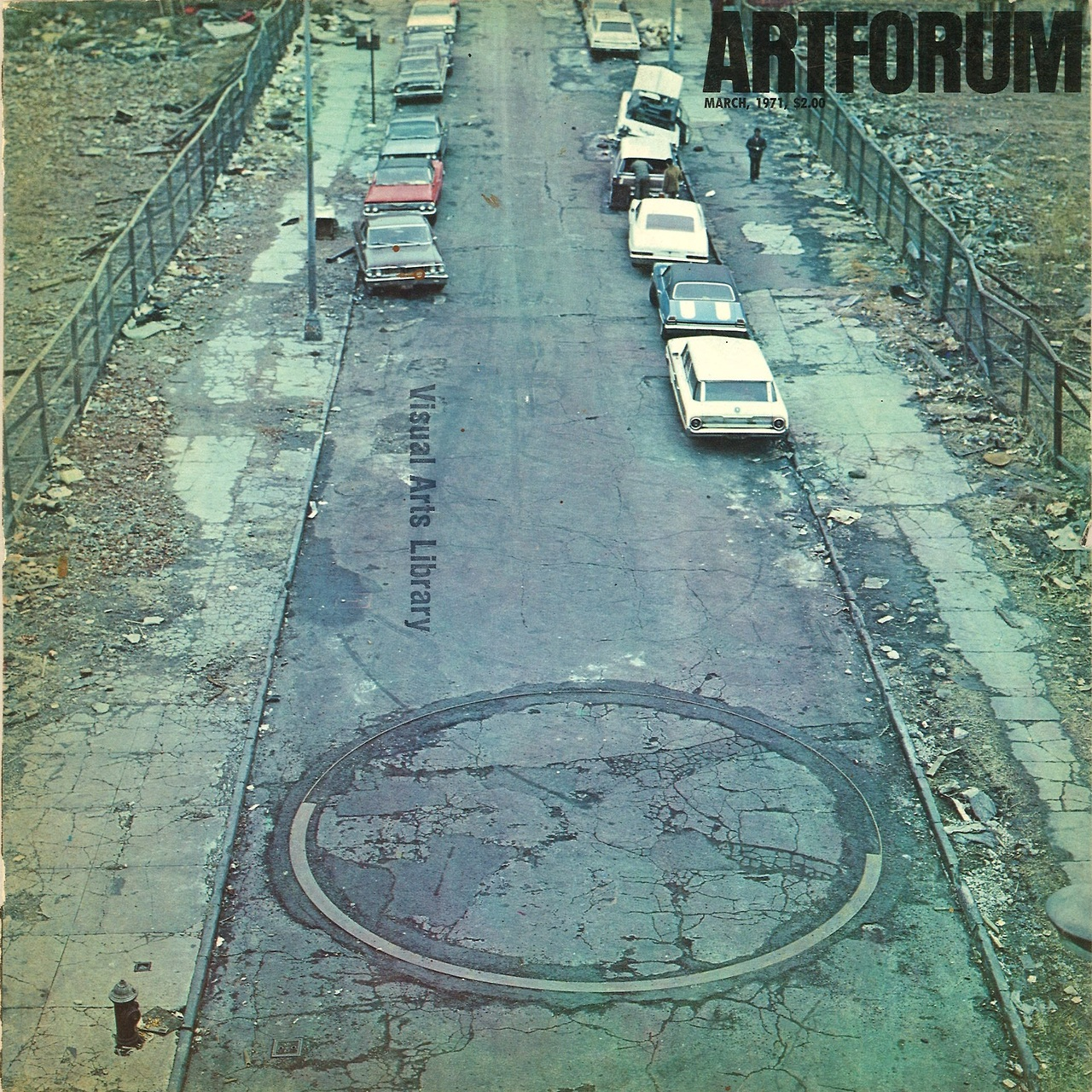 grupaok: Artforum, March 1971 — depicting Richard Serra, To Encircle Base Plate Hexagram, Right Angles Inverted, 1970, at 183rd Street and Webster Avenue, in the Bronx Whoa. Never knew this existed…