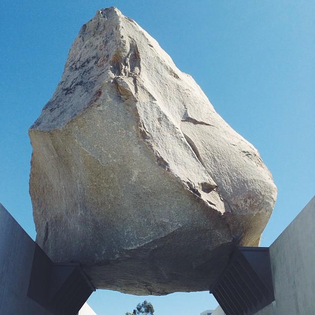 Big rock. (at Levitated Mass)