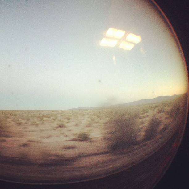 Somewhere between Winslow and Barstow.