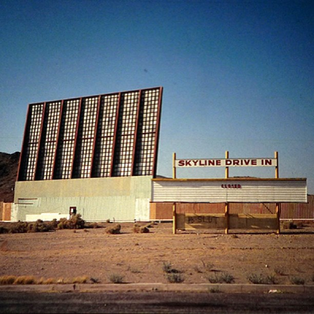 stn-to-stn: STS stop 7, The Skyline Drive-In in Barstow, California. Performers include Beck, Cat Power, No Age and more. Oh, and a UFO created by Peter Coffin will fly over the event. http://stationtostation.com/location/barstow/ Best. Job. Ever.