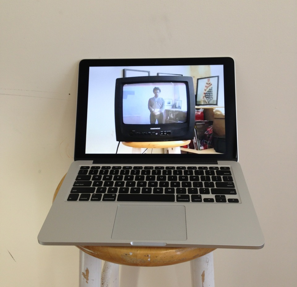so meta for #bos2013: a video of a video of me in my studio auditioning myself for the role of the artist…