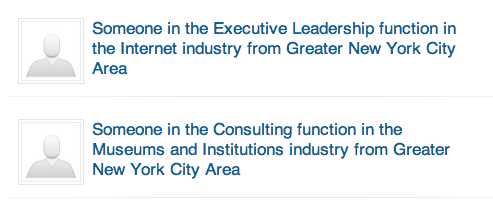 Apparently these people have looked at my LinkedIn profile recently.   Reminds me of the  implausibly specific Netflix categories …