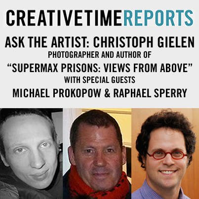 "creativetime: Bring your burning questions to Facebook today (1pm) for Creative Time Reports contributor Christoph Gielen, who captures rarely seen aerial views of Supermax Prisons. Gielen will be featured along with special guests including architectural and cultural historian Michael Prokopow and President of Architects/Designers/Planners for Social Responsibility Raphael Sperry. This Facebook conversation will address Gielen's Creative Time Reports dispatch ""Supermax Prisons: Views from Above"" and his American Prison Perspectives series. When you go to the Creative Time Reports Facebook page at 1pm, you'll find a post kicking off the discussion; then follow Q&A in the comment thread. We want to hear from you!"