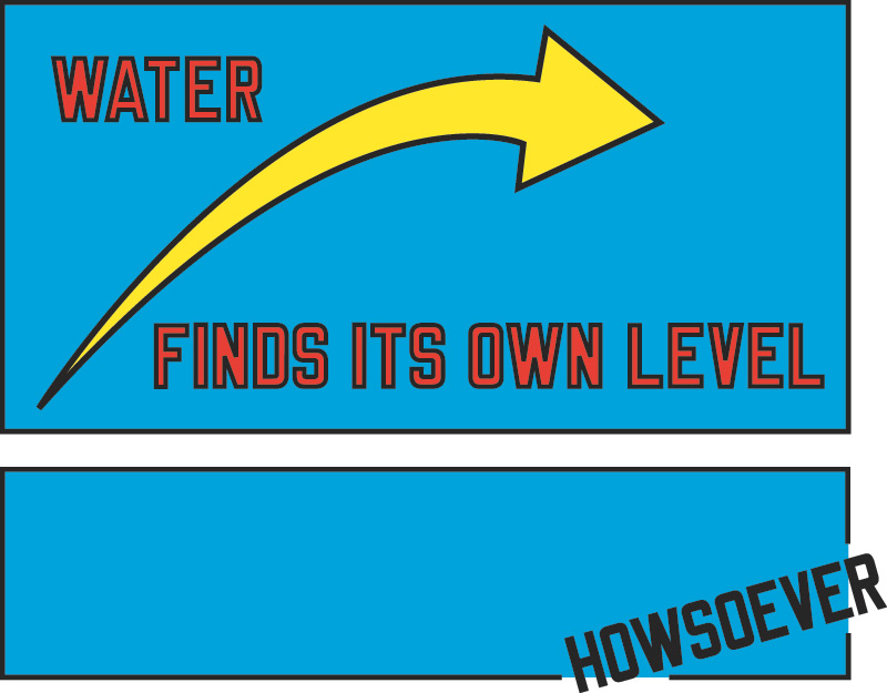 manandjodicollect :      Lawrence Weiner   WATER FINDS ITS OWN LEVEL HOWSOEVER        BOSS