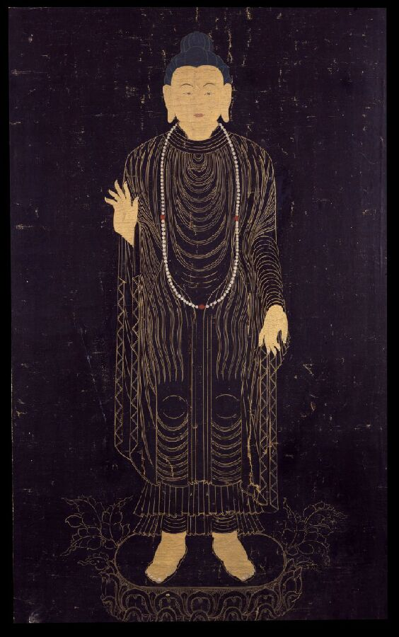 rmanyc :     Thanks for posting this Bhavakala! There are more Himalayan art resources at:      www.himalayanart.org , over on our  Google Art Project  page, and of course on  our website .   Posted by  lich-tung  &  bhavakala :    Shakyamuni Buddha  China 1700 - 1799 71.12x40.64cm (28x16in) Ground Mineral Pigment, Fine Gold Line, Black Background on Cotton Collection of  Rubin Museum of Art      In a Buddha mood…