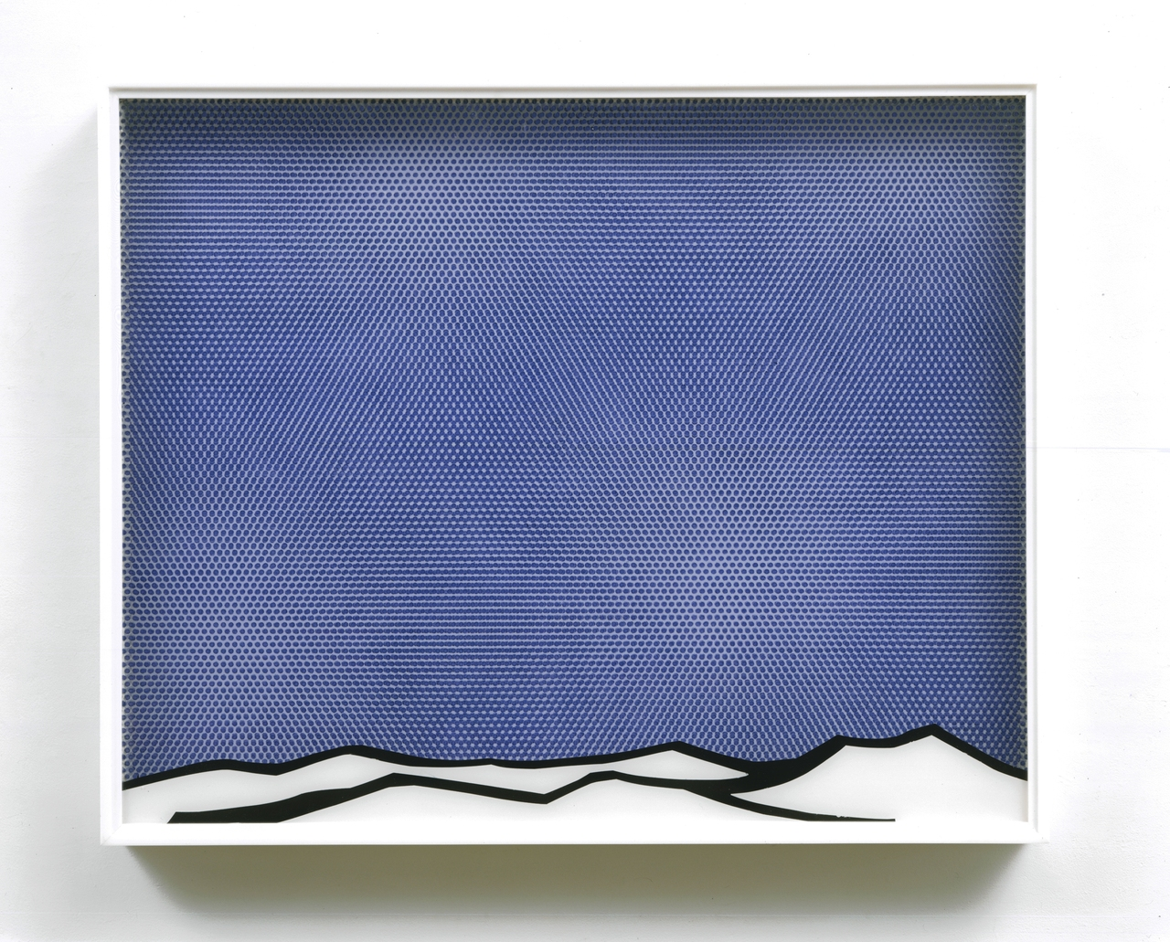 eec :      Roy Lichtenstein  (1923-1997)  Arctic Landscape  1964 Oil and Magna on plexiglass and wood, in the artist's plexiglass frame 25 x 31 x 3 ¼ in.     I always liked RL in this form…