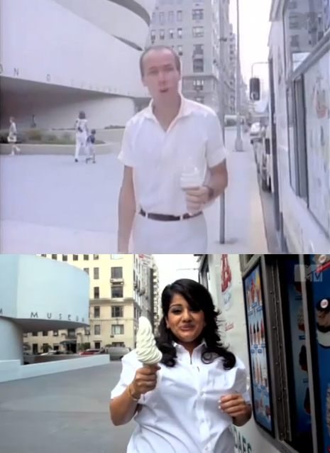 creativetime: Artist Divya Mehra's cheeky MTV Art Breaks video, On Tragedy (Did you hear the one about the Indian?), riffs on Richard Prince's 1985 spoof of the ubiquitous American Express (…don't leave home without it…) TV ads. Both were filmed in front of the iconic Frank Lloyd Wright Guggenheim Museum building in New York. Watch Divya Mehra's here: http://bit.ly/11cCD64 Watch Richard Prince's here: http://on.mtv.com/UEIrjJ ha! definitely watch richard prince's first.