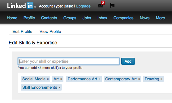 "If you come across me on LinkedIn, please consider endorsing my skill, ""Skill Endorsements."""