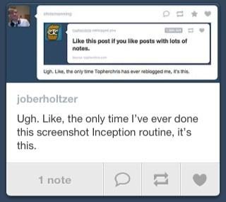 Ugh. The only time I ever screengrabbed a Jason Oberholtzer Inception screengrab post it's this.