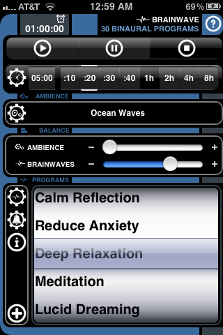 Loving this binaural app on my iPhone. It's like a hug for my earsbrain. But I always have a hard time choosing a frequency.